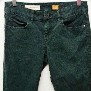 Pilcro green jeans sz 27 stet fit